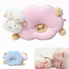 Newborn Baby Infant Pillow Cotton Prevent Flat Head Anti Roll Support Neck