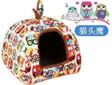 Soft Pet Dog Cat Bed Small House Kennel Doggy Warm Cushion Basket Cave Bed