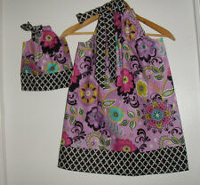 Dolly and me Matching American girl doll dress Purple floral pillowcase dress