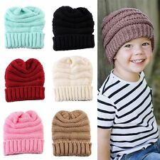 Newborn Winter Warmer Kids Knitted Wool Hat Knit Crochet Cap Children's Beanie