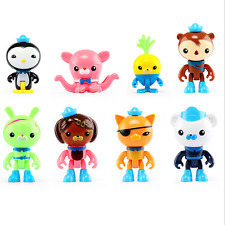 New Octonauts Figures Barnacles Peso Kwazii Dashi PVC Doll Toys Gift Collection