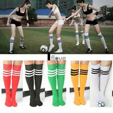NEW WOMEN MEN SOCCER FOOTBALL RUNNING SPORT OVER KNEE THIGH HIGH STRIPED SOCKS