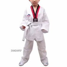 Adult Kids Taekwondo TKD Uniform Suit Martial Arts Karate Dan Dobok karate White