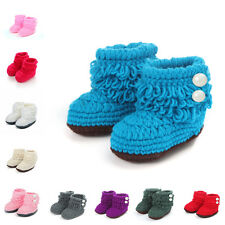 Infant Baby Girl Knit Crochet Soft Shoes Boots Booties High-top Tall Socks