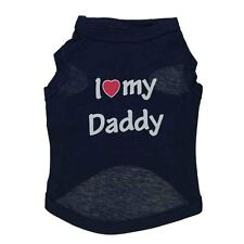 Dog Cat T Shirt Pet Vest Puppy Summer Clothes Daddy I Love Mommy Apparel XS-XL