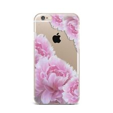 Retro Spring Pink Floral Flower Silicone Rubber Gel Case For IPhone 4S 5S 6S 7+