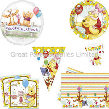 Winnie the Pooh Party Pack for 16 - Plates Cups Napkins Tablecover plus more