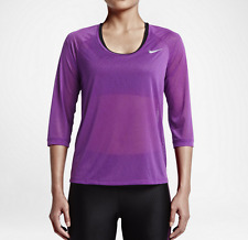 NWT Nike Womens Dri-Fit Cool Breeze Shirt Long Sleeve Running - Violet 719872