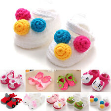 Handmade Crochet knit Infant Baby Booties Cute Boys Girls Slippers Shoes 0-1Y