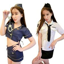 Women Sexy Stewardess Uniforms Halloween Costumes Party Cosplay Fancy Dress