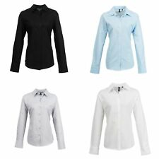 Premier Womens/Ladies Signature Oxford Long Sleeve Work Shirt
