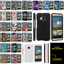 For HTC One M9   HTC M9 Slim Hard Cover Plastic Snap On Case + Stylus Pen