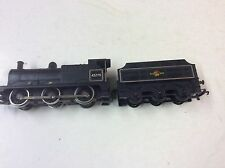 TRIANG R 251 WITH SMOKE UNIT AND TENDER CLASS 3F LOCO IN BR MATT BLACK NO.43775