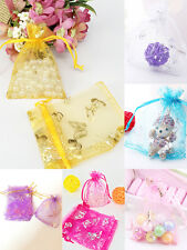 25/50/100pcs 9x12cm Organza Gift Pouch Bags Jewelry Beads Storage Wedding Favor