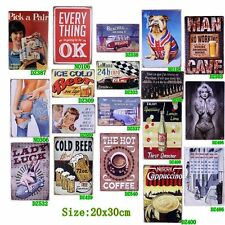 Vintage Tin Metal Signs Bar Pub Home Art Poster Wall Plaque Retro Beer Decor