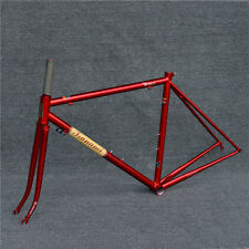 TSUNAMI 520 CR-MO Steel 700c Road Bike Frameset Frame Fork Classic Painted Red