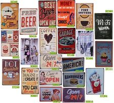 Vintage Tin Metal Signs Poster Bar Pub Home Cafe Wall Plaque Retro Decor