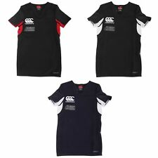 Canterbury Childrens Teens Challenge Short Sleeve Rugby Jersey Top