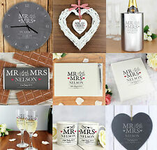 Personalised Mr And & Mrs Message Wedding Engagement Gifts Ideas For Anniversary
