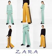 ZARA Sports Trousers Wide Leg Stretch Waist New (RT$39) Flowing Pants Size S M L