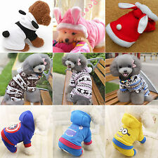 Warm Pet Dogs Cats Sweater Hoodie Cozy Puppy Cloths Coat Jacket Apparel Costume
