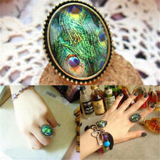 Retro Style Big Rhinestone Ring Vintage Stone Fashion Girl New 6 Colors Hot Sale