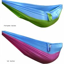Outdoor Swing Chair Hanging Camping Parachute Silk Bed Patio Canvas Hammock