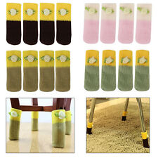 Anti-Scratch Chair Table Leg Foot Pads Knit Floor Protector Covers Socks 4/12pcs