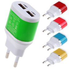 5V/2A Power Adapter EU Plug Dual USB Wall Charger for Samsung HTC Cellphones
