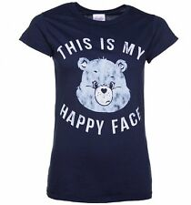 Official Women's Care Bears Grumpy Bear This Is My Happy Face T-Shirt