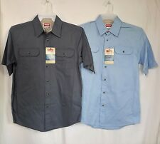 MENS NWT WRANGLER RELAXED FIT BUTTON FRONT SHIRTS SIZE SMALL