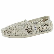 Toms Womens Classic Crochet Slip On Alpargata Shoe, Natural Morocco, US 11