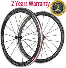 Superteam 50mm 700C Clincher Road Bike Wheelset Aluminum Braking Carbon Wheelset