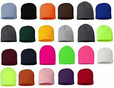 Unisex Solid Beanie Snowboard Ski Ribbed Knit Skull Hat Cap Warm Winter SPOSP08