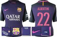 *16 / 17 - NIKE ; BARCELONA AWAY SHIRT SS / ALBERTINI 22 = KIDS SIZE*