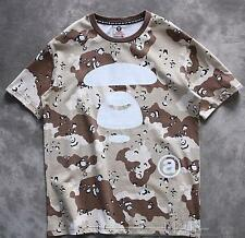 2017 Men's Japan Bape  Camo white Monkey Icon Pattern Camouflage Tee Shirt S-XL
