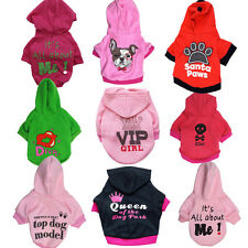Girl Dog Hoodie Pet Coat Puppy Cat Kitty Clothes Medium Small Spring Jacket Vest