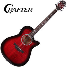 Crafter Noble Varius Color Acoustic Guitar Flame Maple Small Jumbo Cut Away