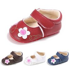 Toddler Baby Girl Soft PU Leather Flowers Princess Shoes Infant Anti-slip Sandal