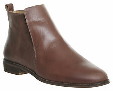 Womens Office Apollo Casual Flat Boots TAN LEATHER Boots