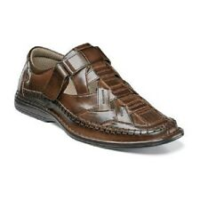 Stacy Adams Biscayne Moc Toe Sandal Slip on Brown Closed Toe shoes 25025-200