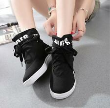 2016 New Fashion Womens Canvas Flat High-top shoes Shoes Causal Shoes PD54