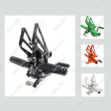 Adjustable CNC Rearsets Footpegs Pedals For Kawasaki 250R 300R EX250 2008-2013