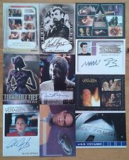 Individual Star Trek Voyager trading card selection inc. chase, autograph