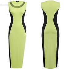 Women Sexy Patchwork Bodycon Split Long Maxi Dress Party Clubwear BLLT