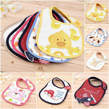 Cartoon Toddler Lunch Bibs Burp Cloths Baby Girl Boy Towel Saliva Waterproof RX