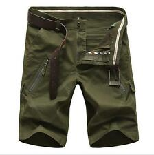 Outdoor mens pants cargo trousers Leisure pockets overalls shorts Plus Size New