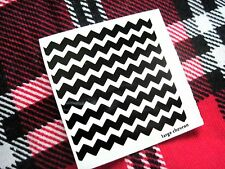 2 sheets Chevron zig zag Vinyl nail stickers decals, choice of color