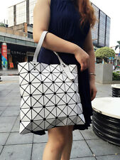 Geometric Folding Matt Shoppers Totes Adjustable Shoulder Bags Casual Handbag