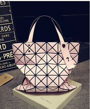 women Geometric folding shoulder bag PVC handbag Satchel Shoppers Totes Bag